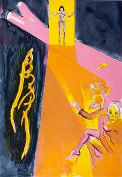 Catwalk II, Etching in Colors, Pop Art, British Art, 20th Century