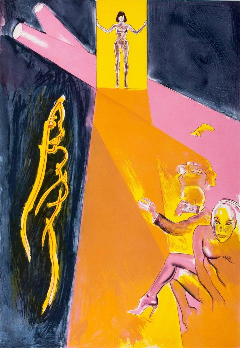 Allen Jones Print - Catwalk II, Etching in Colors, Pop Art, British Art, 20th Century