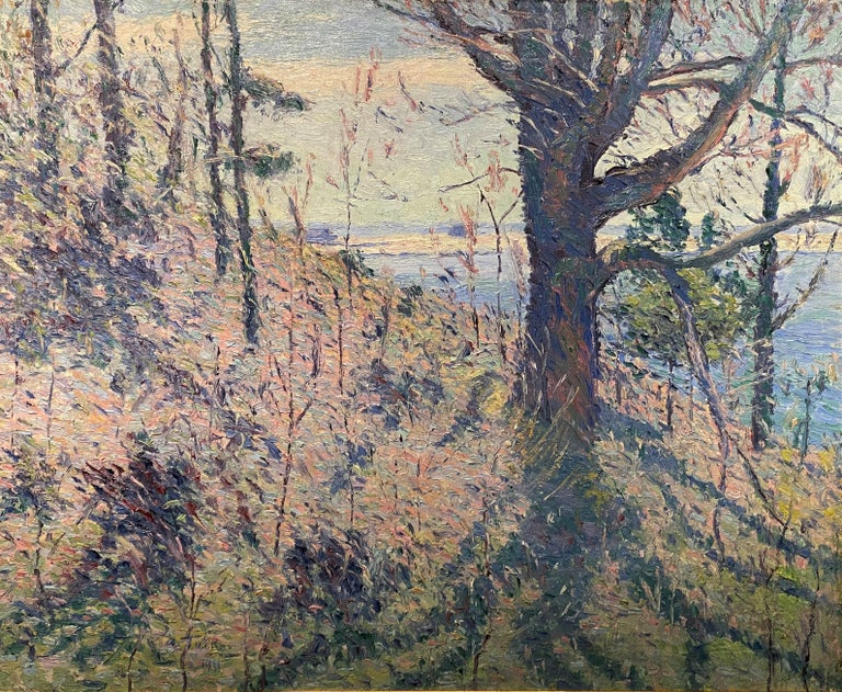 Spring Hillside, Probably Maine - American Impressionist Art by Allen Tucker