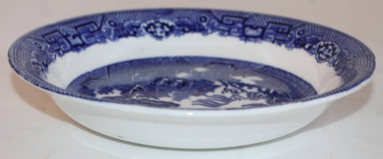 Ceramic Allertons English Blue Willow, Set of Six For Sale