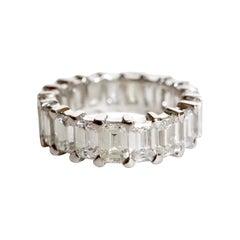 Alliance 18 Carat White Gold Setting 19 Baguette-Cut Diamonds 7.2 Carat