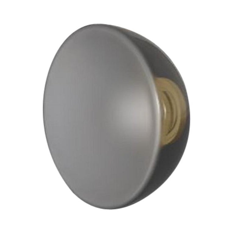 Allied Maker Endless Dome LED Wall Sconce in Frosted Glass & Polished Brass For Sale