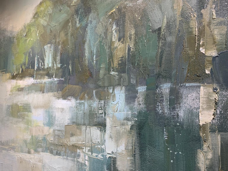 Be Still by Allison Chambers, Large Impressionist Landscape Painting For Sale 4