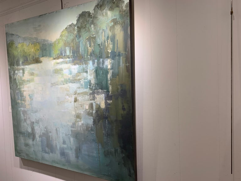 Be Still by Allison Chambers, Large Impressionist Landscape Painting For Sale 5
