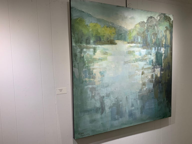Be Still by Allison Chambers, Large Impressionist Landscape Painting For Sale 7