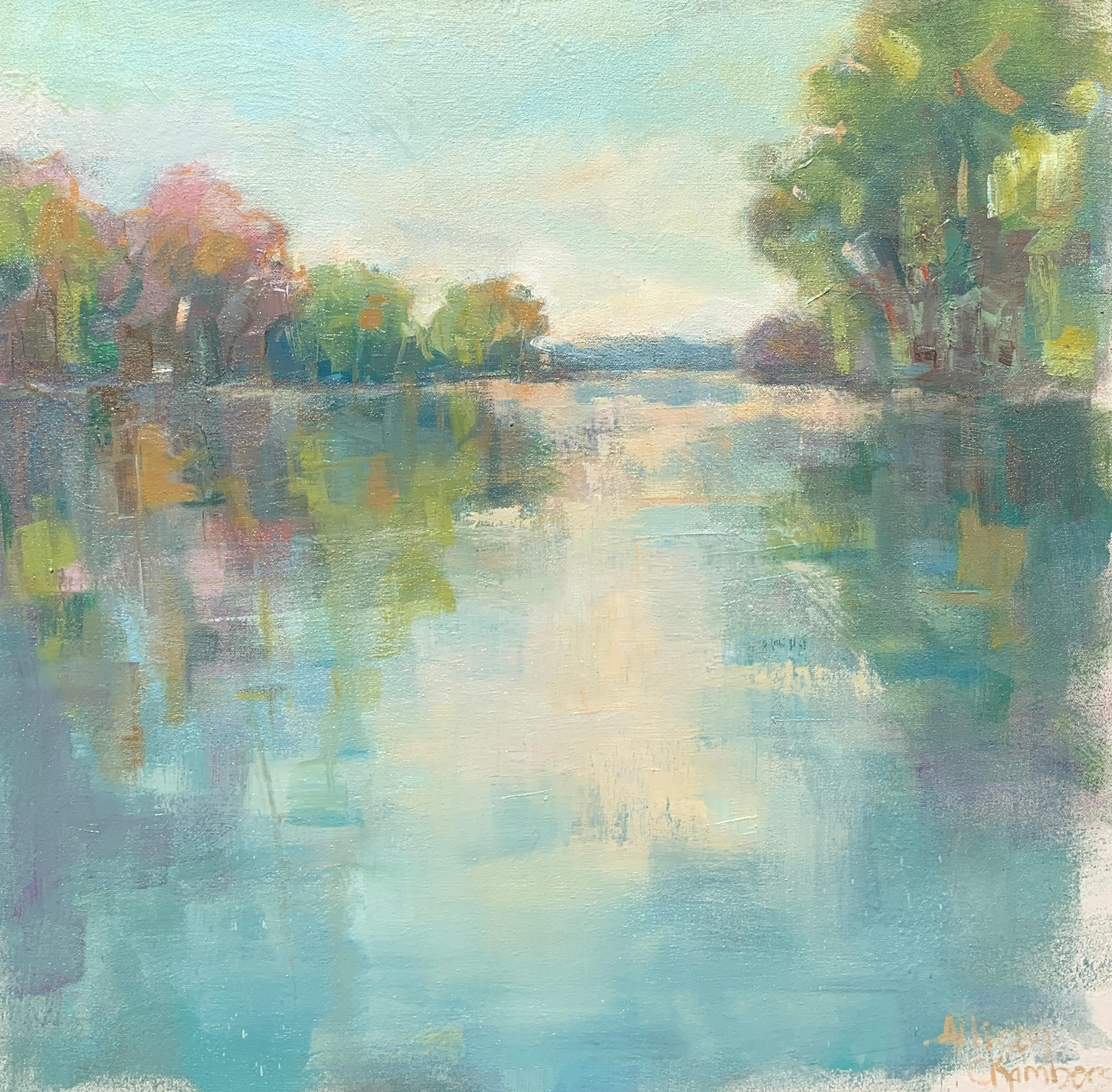 Brighter Days by Allison Chambers, Oil on Canvas Impressionist Landscape