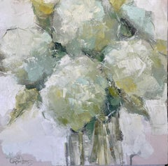 Citron Bouquet by Allison Chambers, Oil on Canvas Impressionist Floral Painting