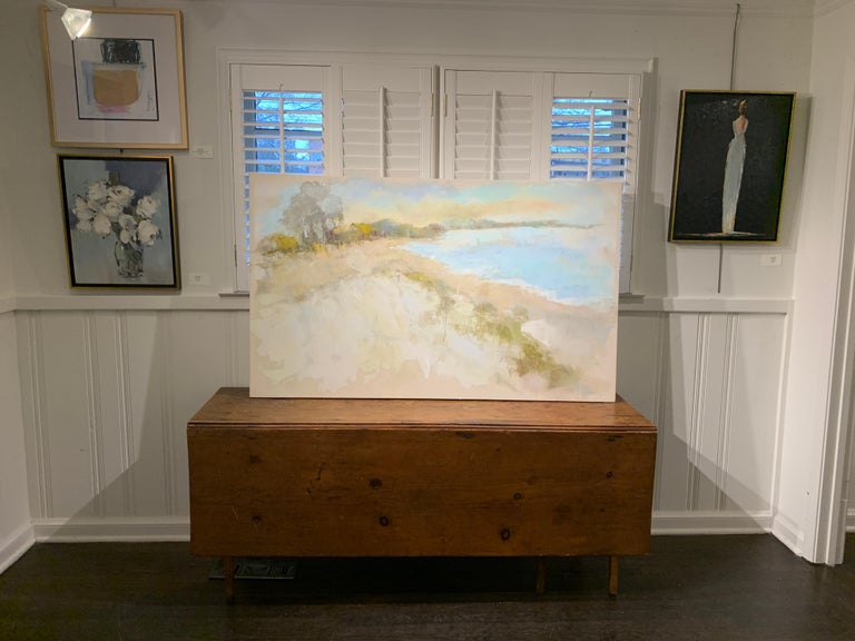 Coastal Vibes by Allison Chambers, Oil on Canvas Impressionist Beach Painting For Sale 1