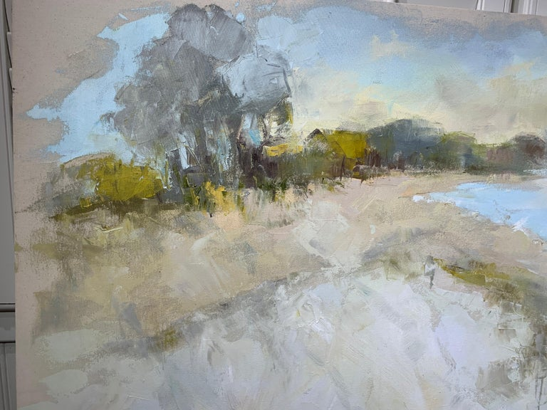 Coastal Vibes by Allison Chambers, Oil on Canvas Impressionist Beach Painting For Sale 3