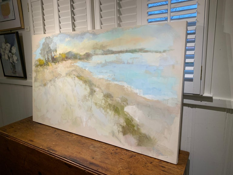 Coastal Vibes by Allison Chambers, Oil on Canvas Impressionist Beach Painting For Sale 4