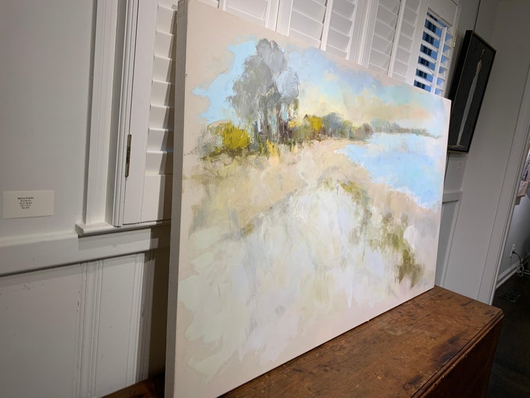 Coastal Vibes by Allison Chambers, Oil on Canvas Impressionist Beach Painting For Sale 5