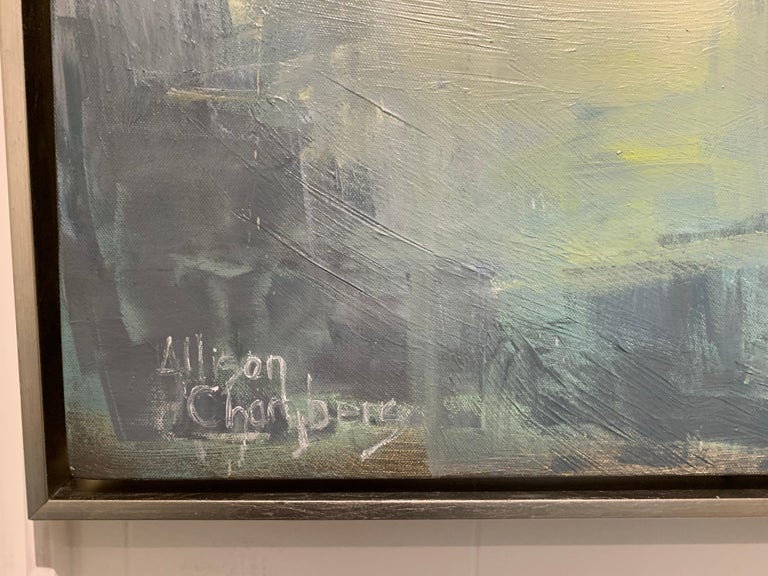 Dawn Light by Allison Chambers, Framed Vertical Landscape Painting For Sale 2