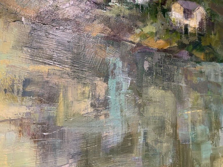 Dawn Light by Allison Chambers, Framed Vertical Landscape Painting For Sale 4