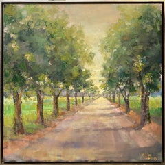 Destination, original 40x40 expressionist landscape