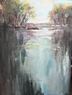 Far and Away by Allison Chambers, Large Vertical Impressionist Oil Painting