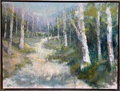Follow Me, original 30x40 expressionist landscape
