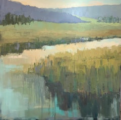 For Today by Allison Chambers, Large Framed Impressionist Oil on Canvas Painting