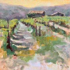 Grapes of Wrath by Allison Chambers, Framed Impressionist Landscape Painting
