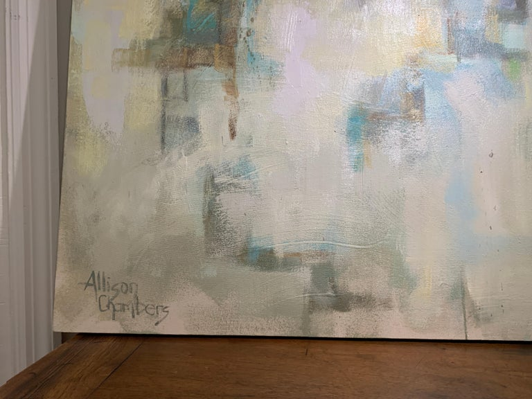 Hand in Hand by Allison Chambers, Large Framed Impressionist Painting For Sale 4