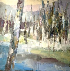 Inspiration by Allison Chambers 2020 Abstract Landscape Oil on Canvas Painting