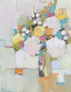 La De Das by Allison Chambers, Oil on Canvas Floral Painting