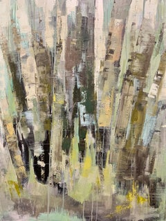 Longing by Allison Chambers, Framed Oil on Canvas Abstract Landscape Painting