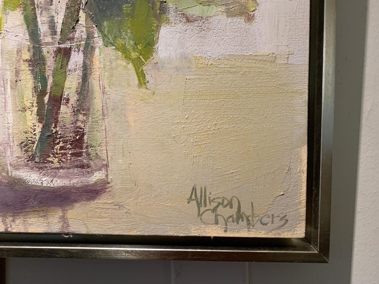 Love of Mine by Allison Chambers, Oil on Canvas Impressionist Floral Painting For Sale 3