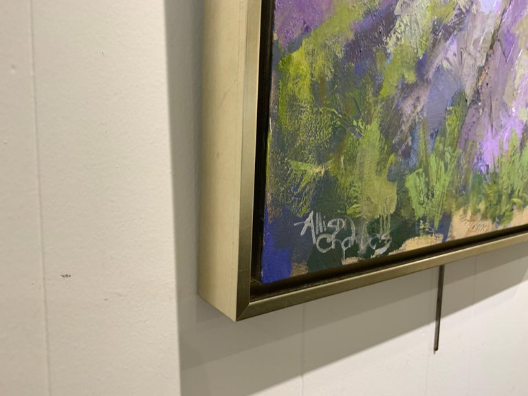 On My Way by Allison Chambers, Framed Impressionist Landscape Painting For Sale 4