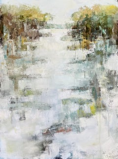 Peace Be to You by Allison Chambers, Large Framed Impressionist Painting