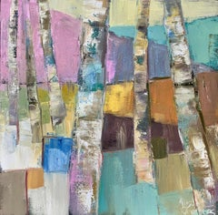 Ratio 1 by Allison Chambers, Small Framed Abstract Oil on Canvas Painting