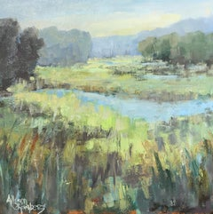 Rest for Awhile by Allison Chambers, Framed Impressionist Landscape Oil Painting