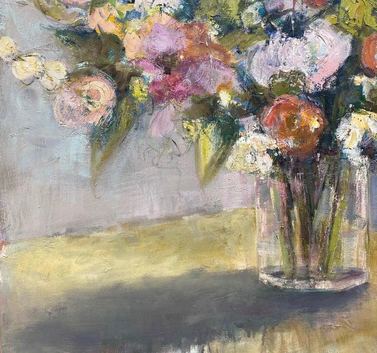 Rhythmn and Blues, original 36x30 impressionist floral still life For Sale 1