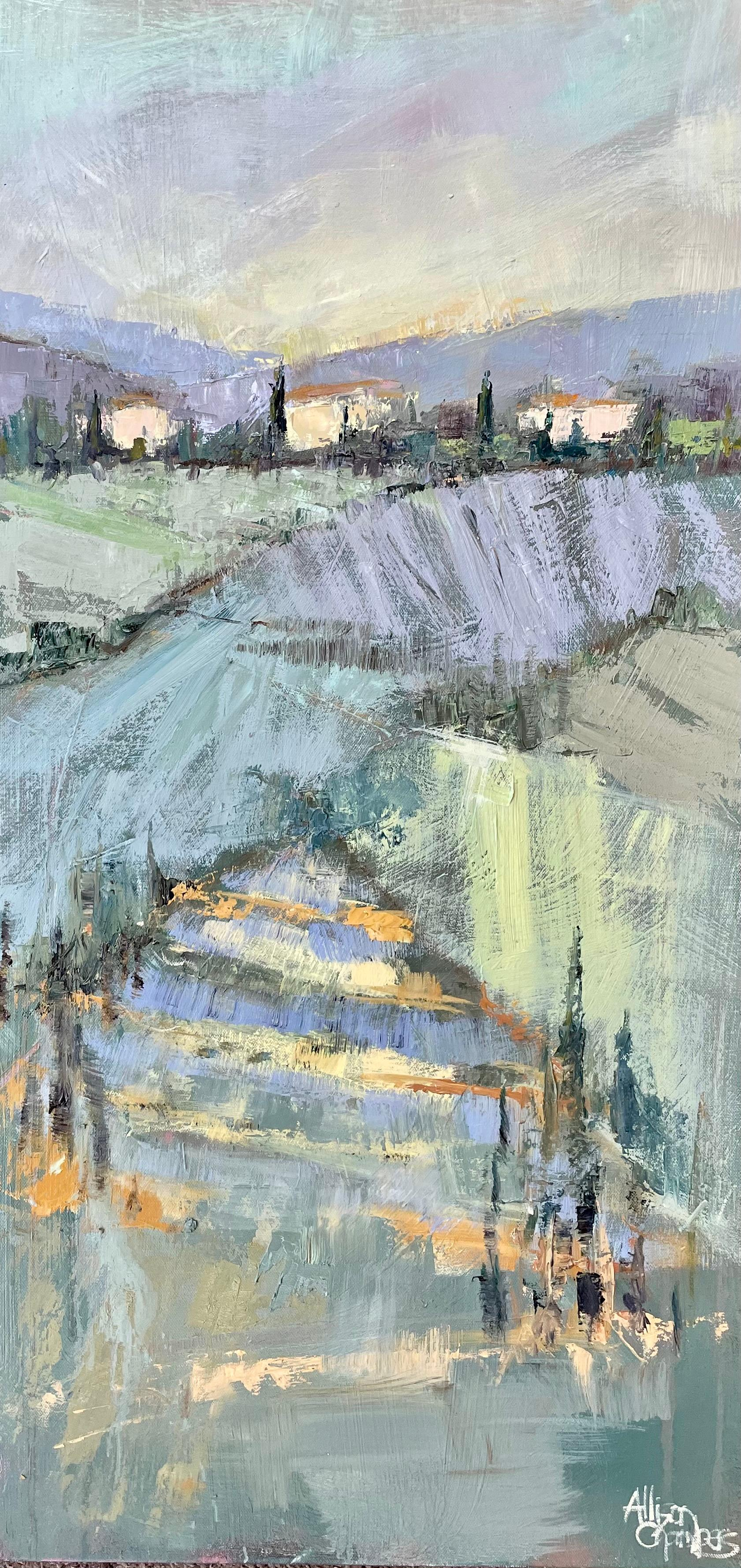 Take Me Back by Allison Chambers, Impressionist Vertical Landscape Painting