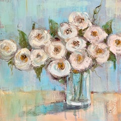 Thanks Mom by Allison Chambers, Framed Oil on Canvas Impressionist Painting