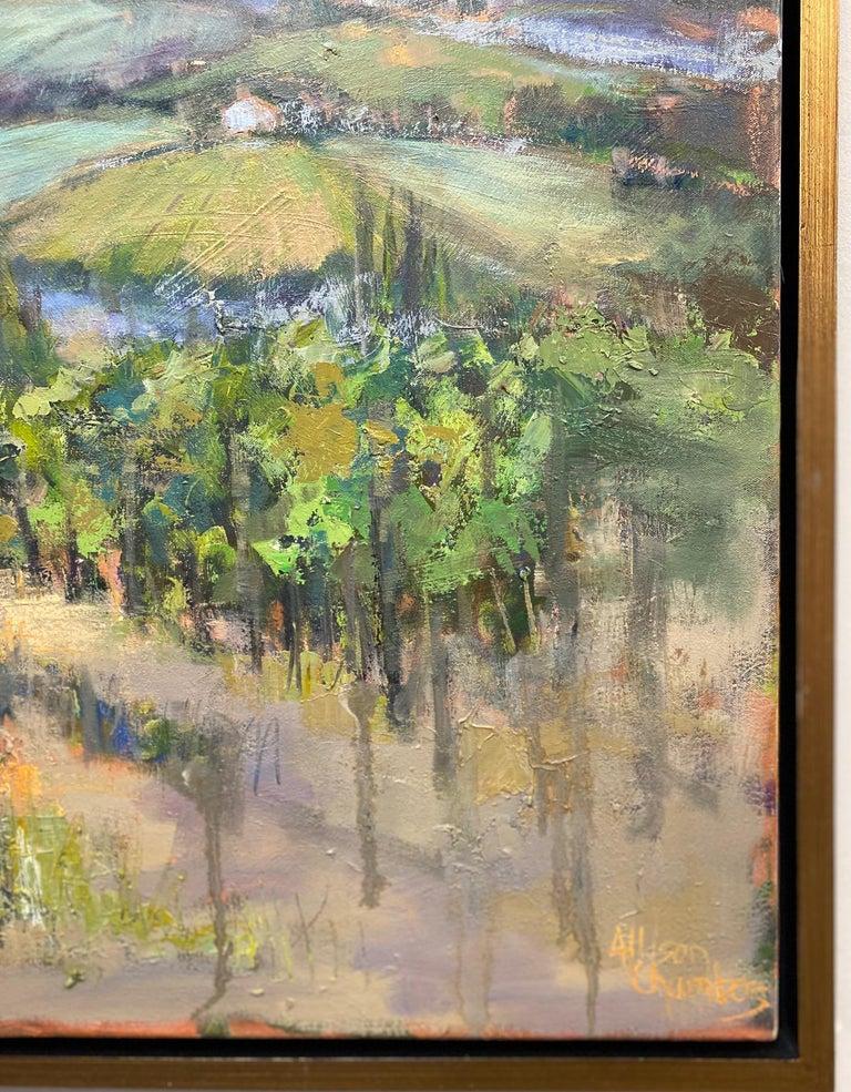 The Hills Are Alive, original 30x40 impressionist Italian landscape 2