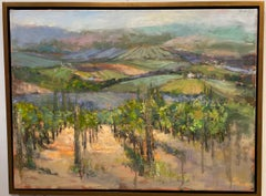 The Hills Are Alive, original 30x40 impressionist Italian landscape