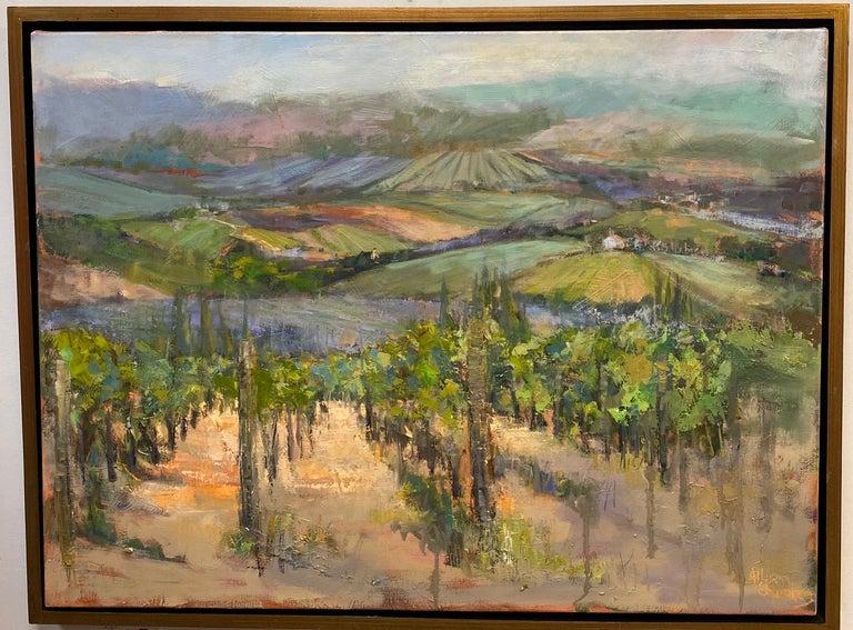 Allison Chambers Landscape Painting - The Hills Are Alive, original 30x40 impressionist Italian landscape