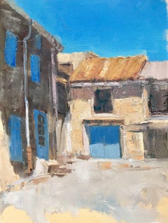 These Walls Have Stories, Petite Impressionist South of France Painting