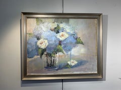 Watch and Grow by Allison Chambers, Framed Oil on Canvas Impressionist Painting