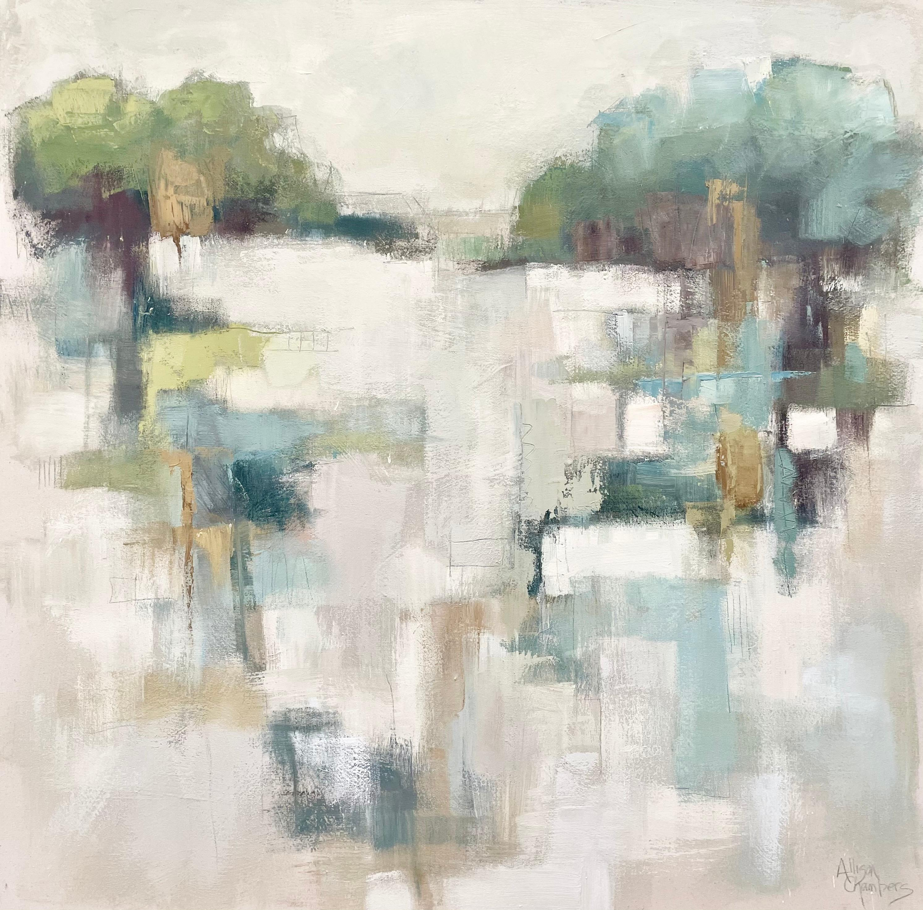 Well Kept Secret by Allison Chambers, Large Framed Impressionist Painting