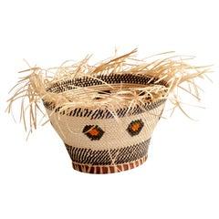 Allow Yourself Straw Braided Basket Oval