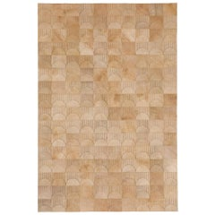 Alluring Customizable Sol Biscotti Cowhide Area Floor Rug Large