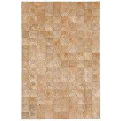 Alluring Customizable Sol Biscotti Cowhide Area Floor Rug Small