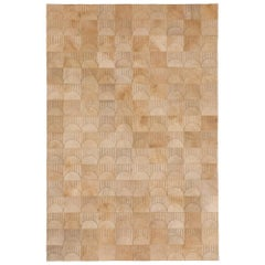 Alluring Customizable Sol Biscotti Cowhide Area Floor Rug X-Large