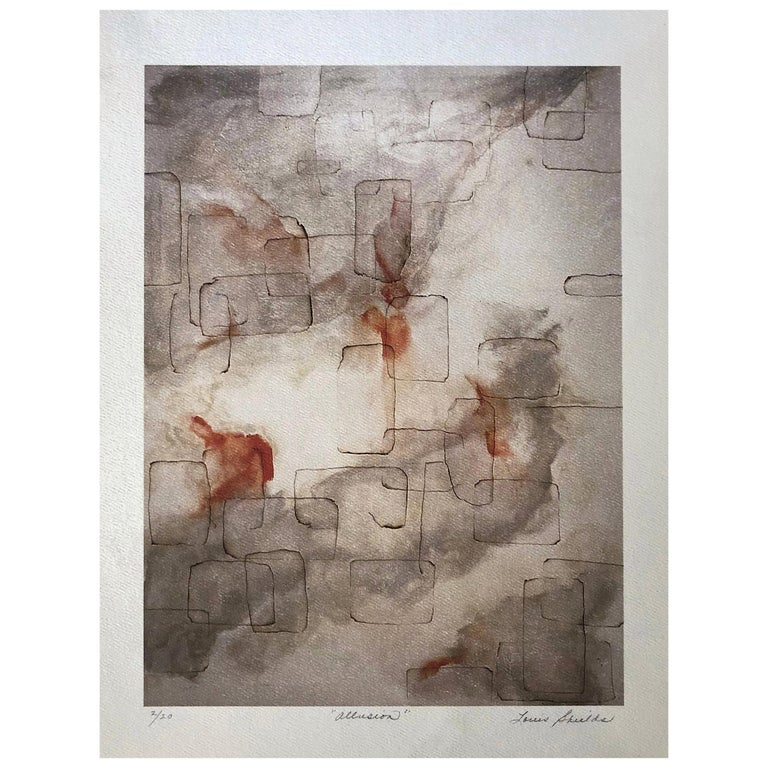 """""""Allusion"""" Archival Print, Textured Watercolor Paper, Limited Edition, Abstract For Sale"""