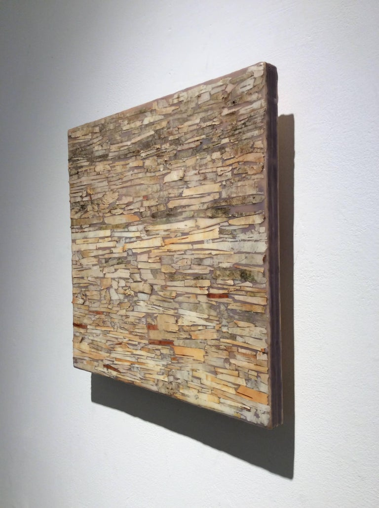 Barking Up the Wrong Tree 3 (Abstract Encaustic Painting in Neutral Palette) For Sale 5