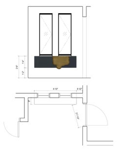 Alma Console Blue-Grey Lacquered Dark Oxidized Brass Wall Mounted