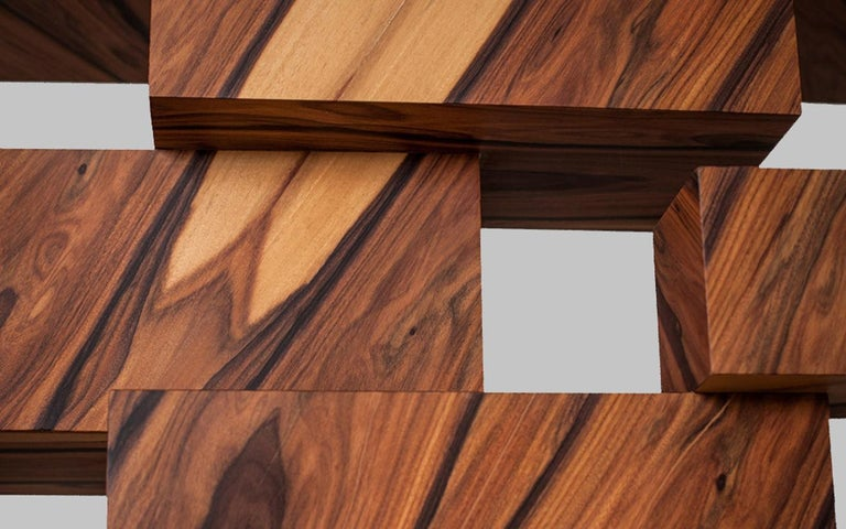 Alma Console Made of Palo Santo Wood, Limited Edition of 7- Contemporary Design For Sale 5