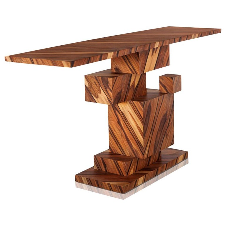 Alma Console Made of Palo Santo Wood, Limited Edition of 7- Contemporary Design For Sale