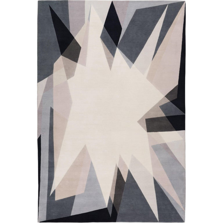 Alma Hand-Knotted 10x8  Rug in Wool by Jaime Gili For Sale